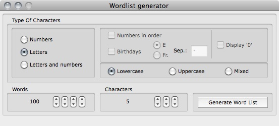 Cryptix 1.0.0 wordlist generator