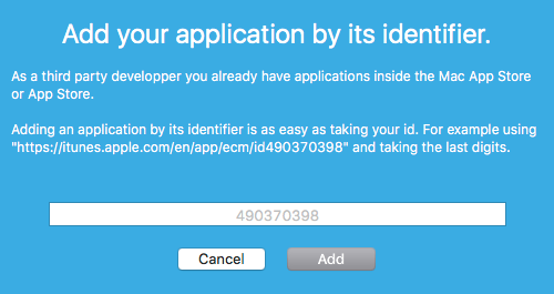 Add an application window